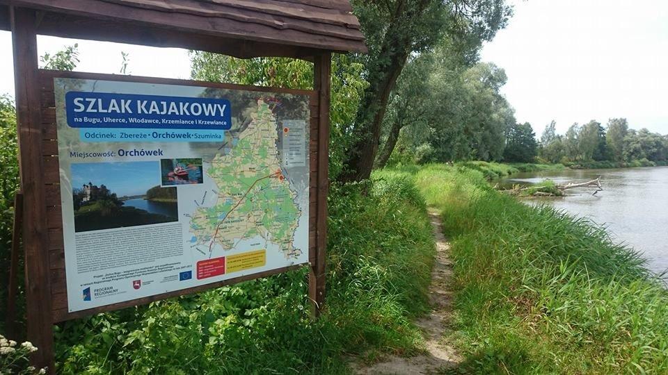 Szlak kajakowy Poleska Dolina Bugu w Orchówku