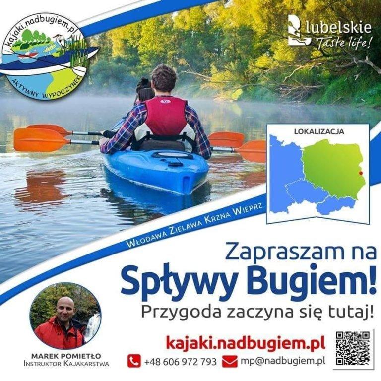 Najlepsze spływy kajakowe po Bugu – aktywny wypoczynek Okuninka – J. Białe